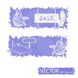 Sea sketch banners Stock Images