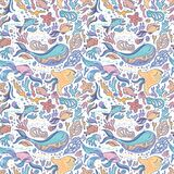 Sea sketch pattern Stock Photo