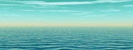 Sea and sky royalty free illustration