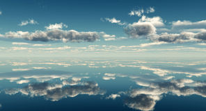 Sea sky vector illustration