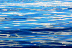 Sea and sky. The abstract background of sea with the reflections of blue sky and white clouds, gulf islands national park, british columbia, canada Royalty Free Stock Photos