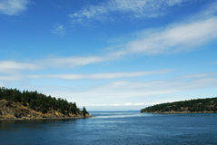 Sea and sky. View of sea, islands and blue sky in gulf islands national park, british columbia, canada Royalty Free Stock Photos