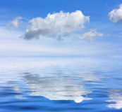Sea sky. Beautiful sea and clouds sky - digital artwork royalty free stock photos