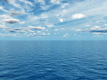 Sea sky. Beautiful sea and clouds sky - digital artwork stock images