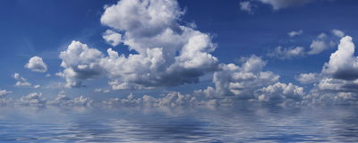 Sea & sky background Royalty Free Stock Images
