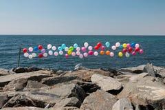 Sea , sky ,balloon Royalty Free Stock Image