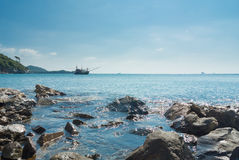 Sea and sky. Beautiful sea and sky in the afternoon sunday wonderful sky wonderful sea Royalty Free Stock Photos