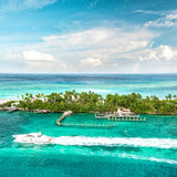 Sea and sky. Beautiful landscape Caribbean sea. Bahamas. Nassau Royalty Free Stock Image