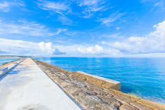 Sea and sky from the breakwater Stock Photo