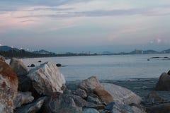 Sea. Sky sea breezy light nsunsets Royalty Free Stock Photography