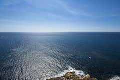Sea and sky of the Cies Islands royalty free stock photo