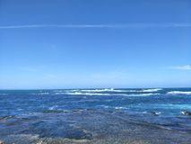Sea and sky. Clear blue sky and water Stock Photography