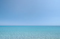 Sea and sky. Clear summer day. Background to base assembly Royalty Free Stock Image