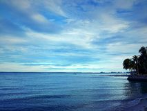 Sea sky and cloud are blue clear Royalty Free Stock Images