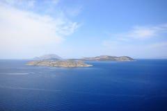 Sea sky cloud and islands rhodos. Sea sky cloud and islands landskape rhodos royalty free stock images