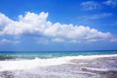 Sea, sky, clouds Royalty Free Stock Image