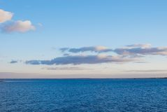 Sea and sky with clouds. stock image