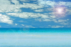 Sea and sky. Cloudy sky and turquoise sea Stock Photo