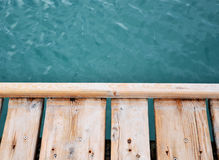 Sea sky and desk Royalty Free Stock Photography
