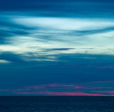 Sea and sky in the evening. Stock Images