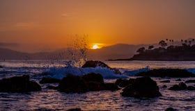 Sea, Sky, Horizon, Sunset Royalty Free Stock Photos