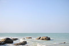 Sea and sky. Hua-hin beach in Thailand Royalty Free Stock Photography