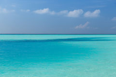 Sea and sky on maldives beach Royalty Free Stock Photography