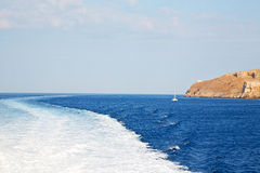 From  sea and sky in mediterranean sea Stock Photos