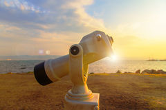 Sea Sky monocular Stock Photos