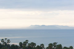 The sea, the sky and the mountain in Pattaya. Pattaya, Thailand Stock Image