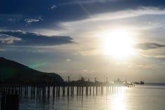 Sea Sky And Mountain View Stock Photos