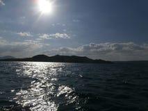 Seascape in Crimea. Sea, sky, mountains, Crimea, the clouds, rest in the Crimea, Holidays on the Black Sea, Walk on the black sea stock images
