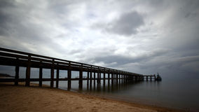 Sea sky pier Stock Photo