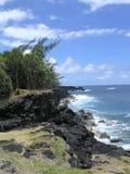 Sea, sky and rocks royalty free stock photography