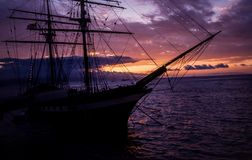 Sea, Sky, Sailing Ship, Tall Ship royalty free stock photo