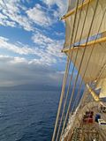 Sea, sky and sails stock images