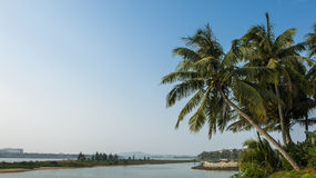The sea and sky of Sanya Royalty Free Stock Photo