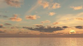 Sea Sky Scenery. Beautiful images of the sky Stock Images