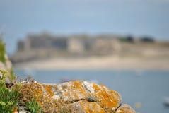Sea, Sky, Shore, Rock stock photography