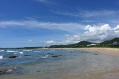 Sea and sky in South Bay  Kenting stock images
