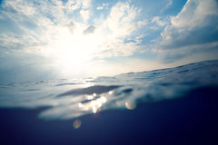 Sea and sky split background Royalty Free Stock Photos