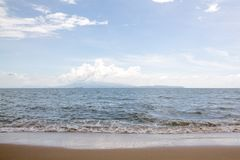 Sea with sky in summer. stock photos