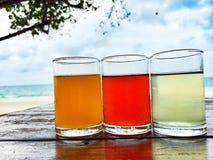 Sea, sky, Sun, sand, glass, thailand Royalty Free Stock Photography