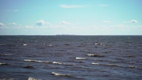Sea at sunny windy day stock video footage