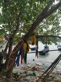 Sea, sky, sunrise, beach, sea, beach, mountains, sea, beautiful scenery, Thailand, Khao Laem Ya, Rayong. Tent camping camp sea bathroom Sea, sky, sunrise, beach Royalty Free Stock Images