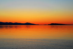 Sea and sky at sunset Royalty Free Stock Photography