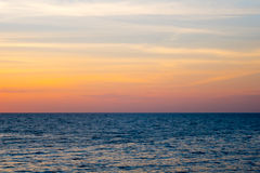 Sea and sky. At sunset Royalty Free Stock Photo