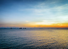 Sea and sky at sunset. Beautiful landscape Royalty Free Stock Photography