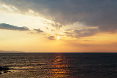 Sea sky sunset Royalty Free Stock Images