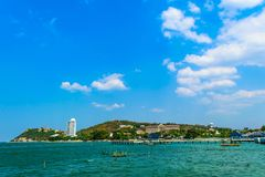 Sea and sky. In Thailand stock photos